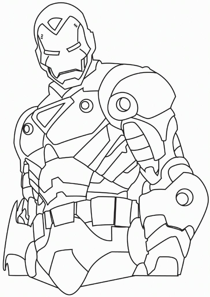 dessin à colorier iron man