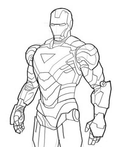 Dessin iron man 2 gratuit - Ironman coloriage ...