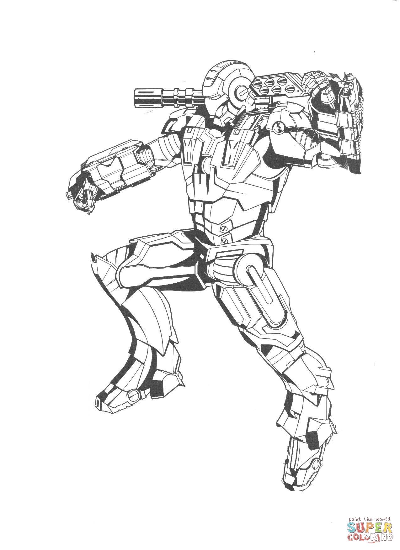 dessin d iron man 2