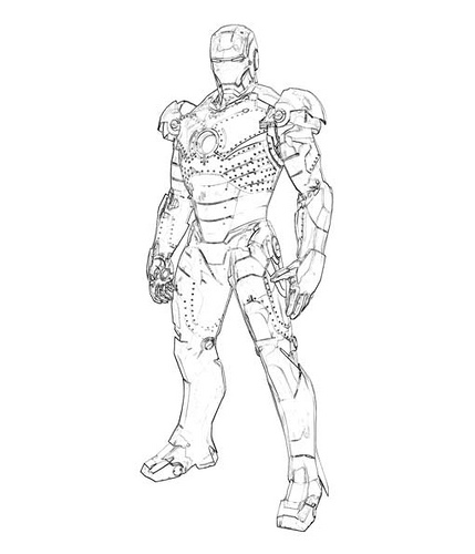 Dessin de iron man 2 - Coloriage ironman ...