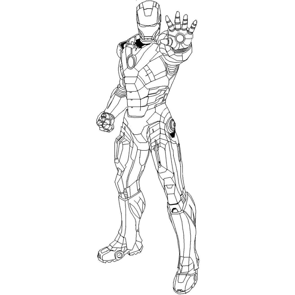 Dessin iron man mark 42 - Coloriage ironman ...