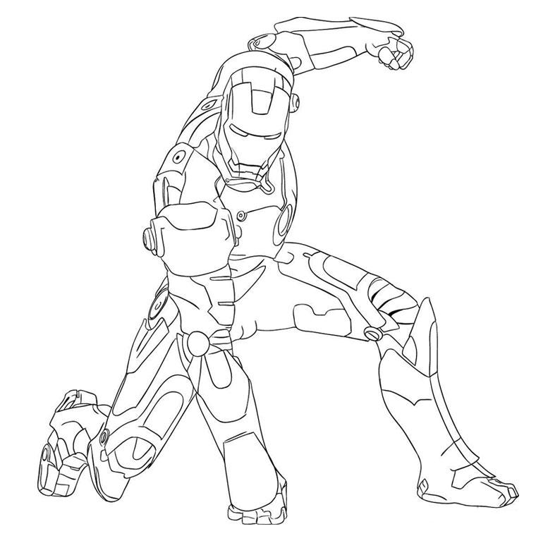 jeux dessin iron man