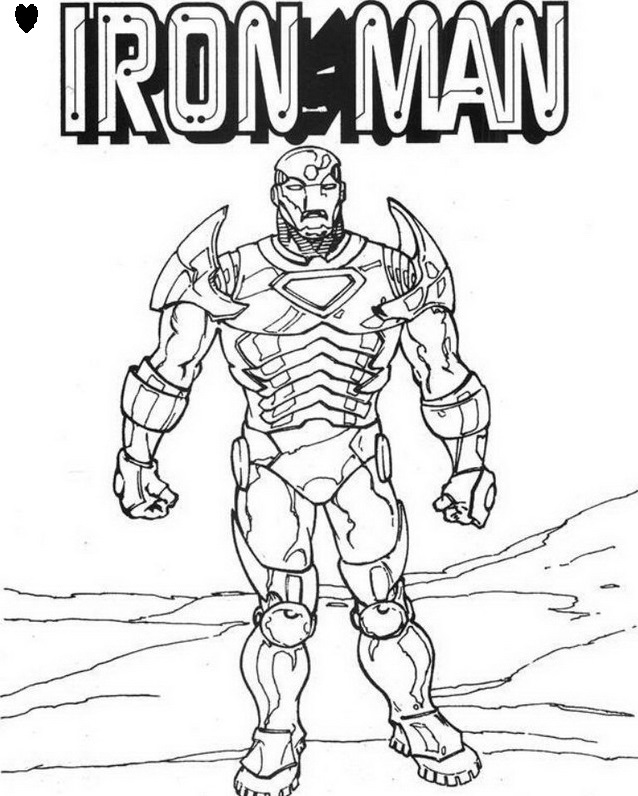 coloriage de iron man 3