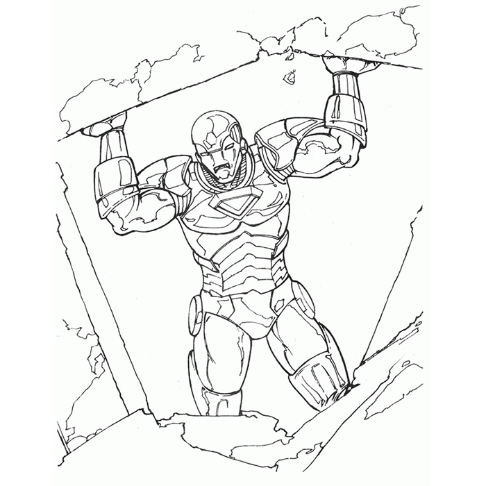 dessin iron man 3 mark 42