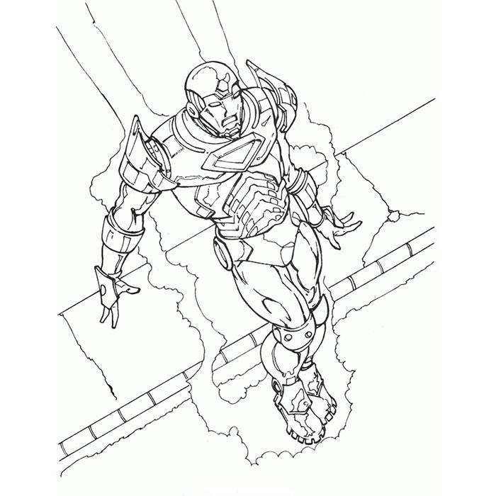 coloriage iron man patriot
