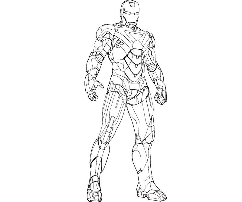dessin iron man facile