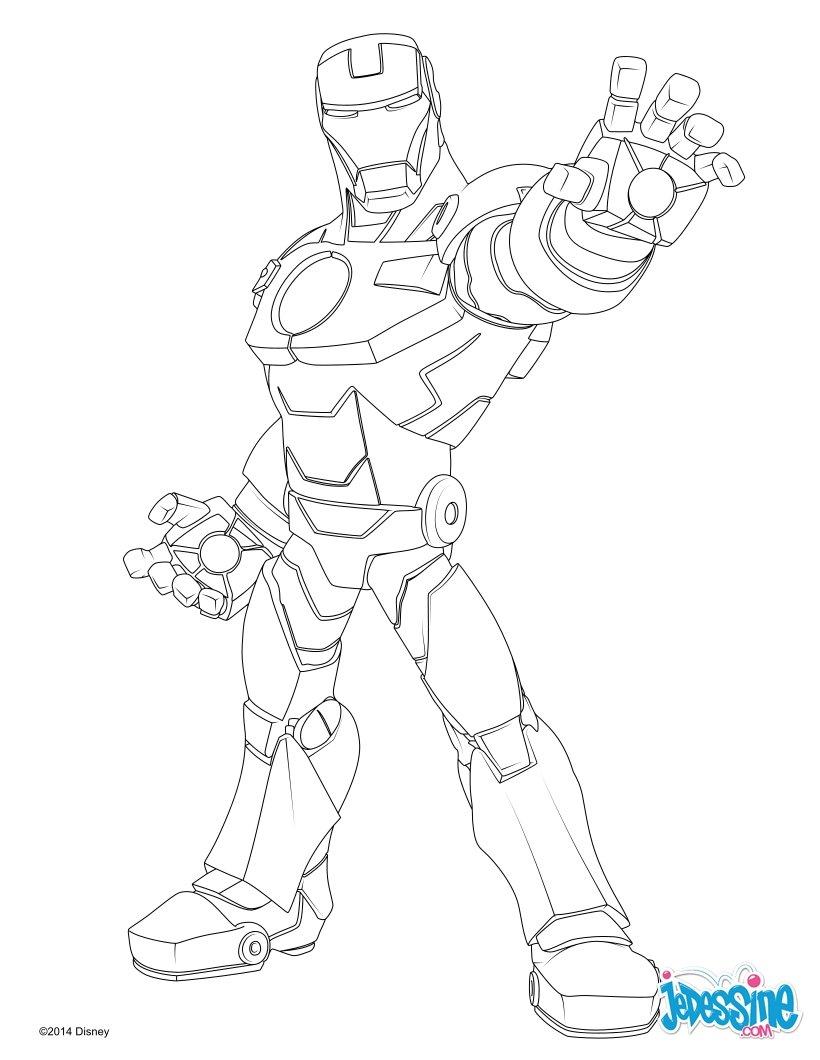 coloriage à dessiner iron man 3 en ligne