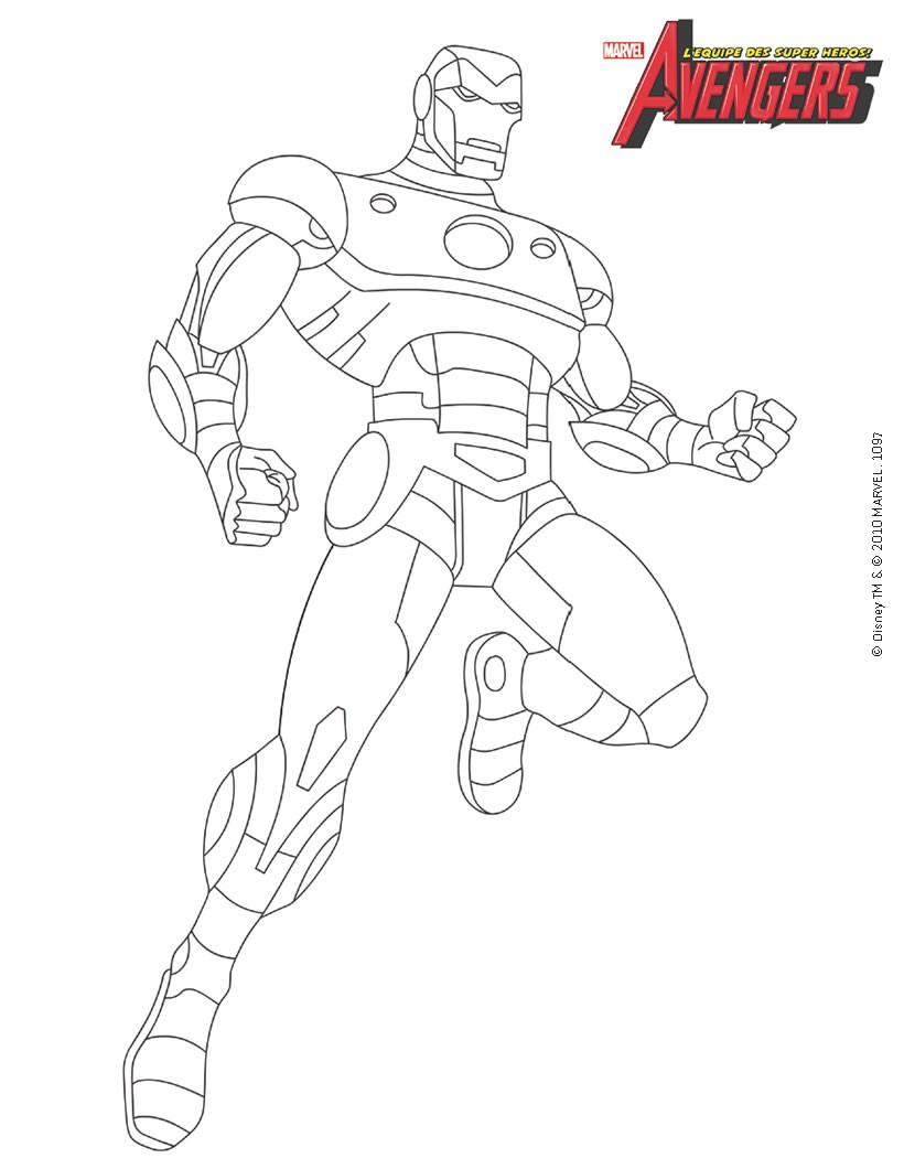 coloriage à dessiner iron man dessin animé