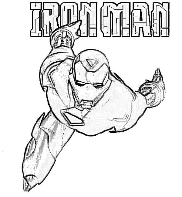 dessin iron man mark 42