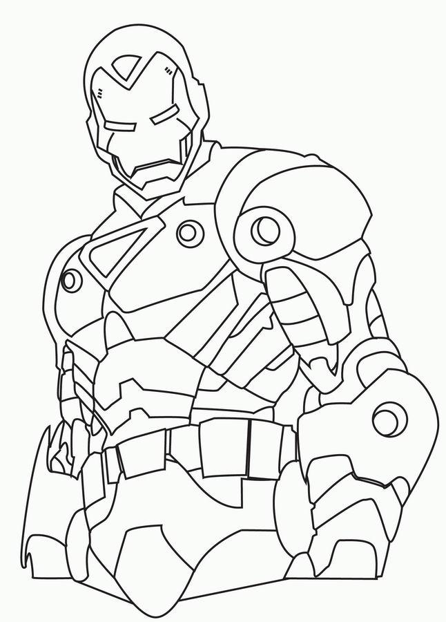 jeux coloriage à dessiner iron man gratuit