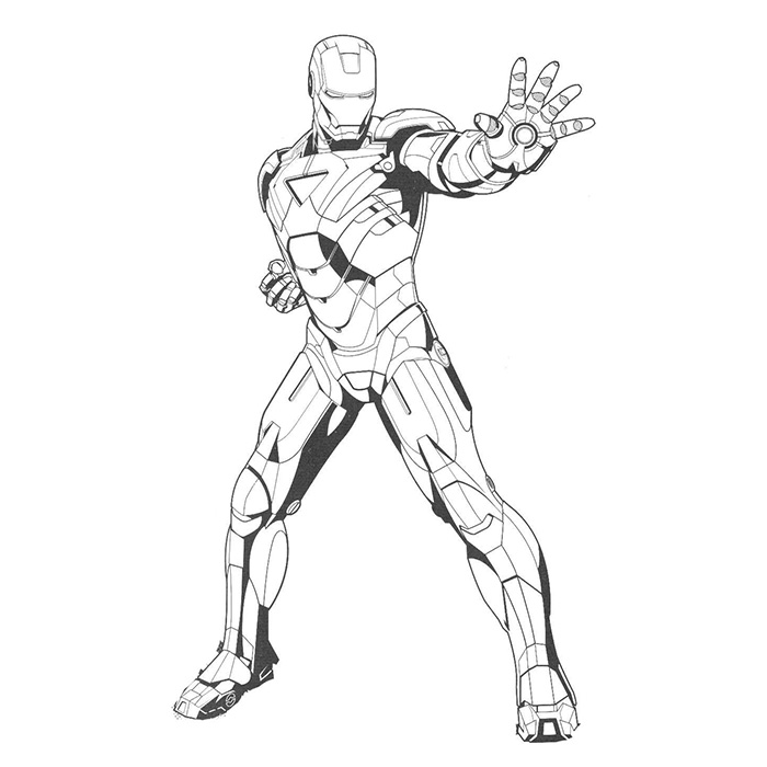 coloriage de iron man 2