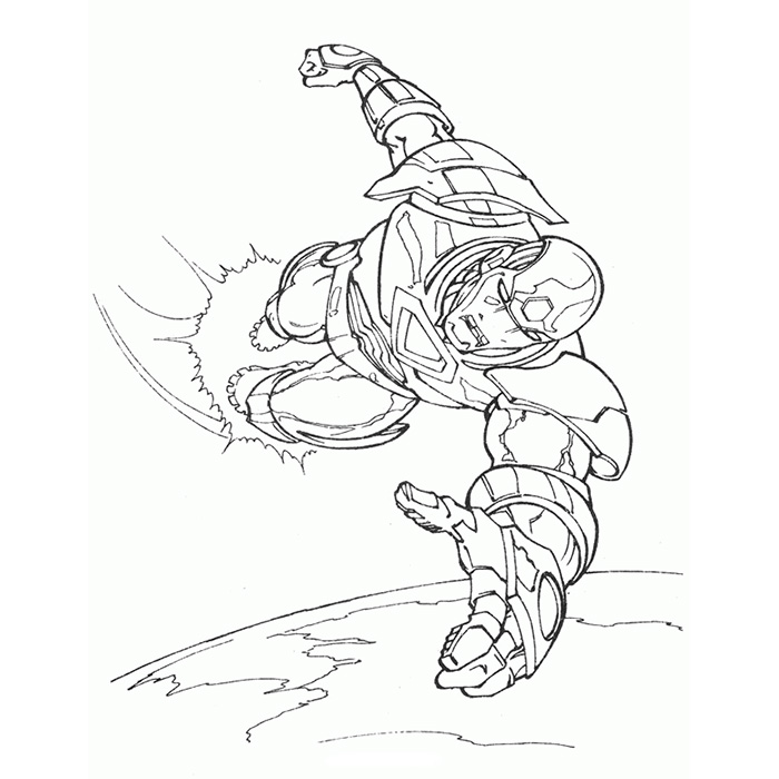 coloriage iron man gratuit