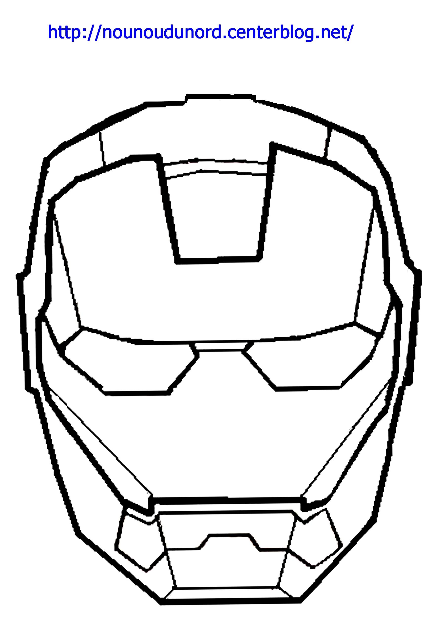 dessin à colorier iron man facile
