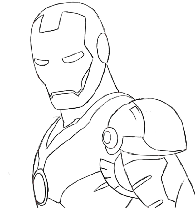 Dessin iron man patriot - Coloriage ironman ...