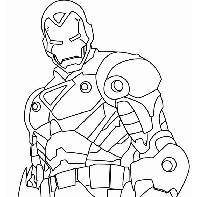 coloriage à dessiner iron man avengers