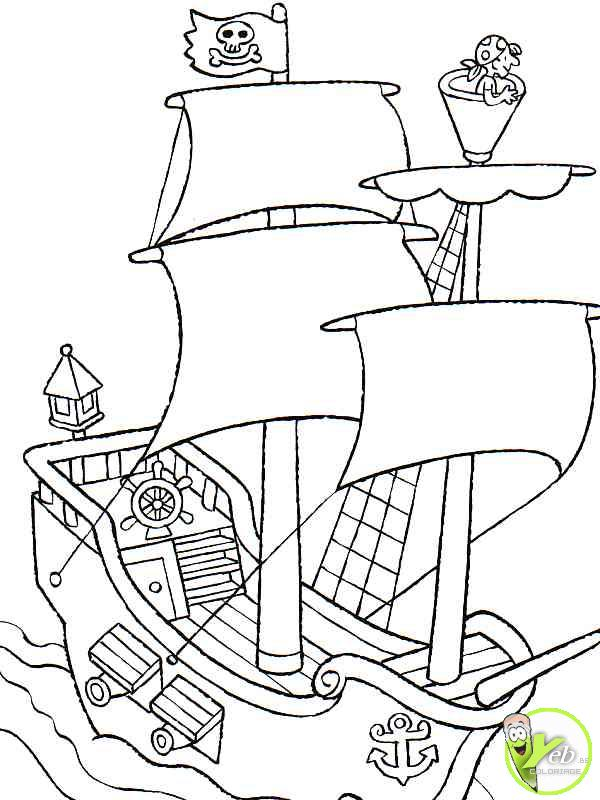 8 dessins de coloriage jack et les pirates capitaine - Coloriage jack le pirate ...