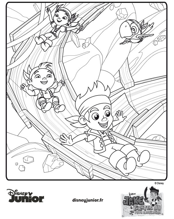 3 dessins de coloriage jack et les pirates du pays - Coloriage jack le pirate ...