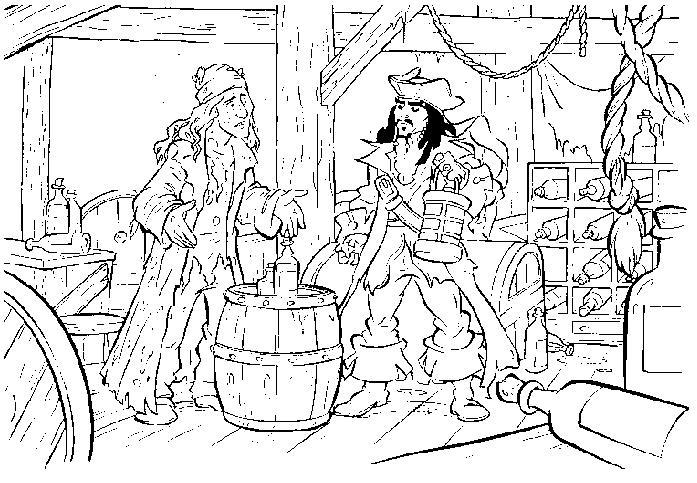 coloriage à dessiner jack et les pirates imaginaires