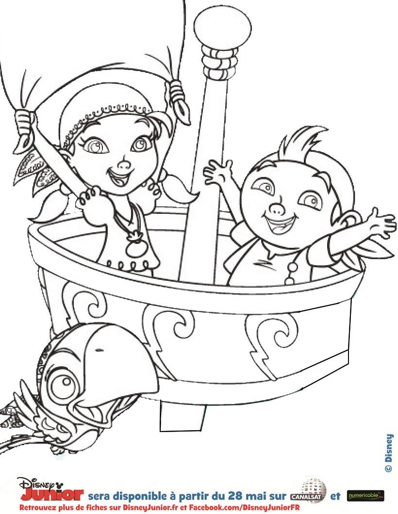 coloriage à dessiner jake et les pirates