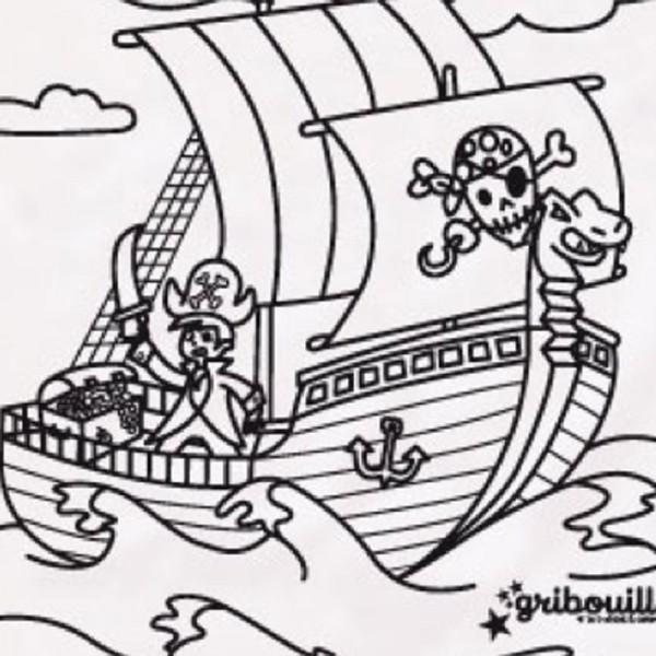 coloriage à dessiner jack et les pirates à imprimer