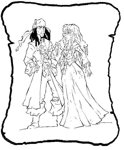 coloriage jack et les pirates du pays imaginaire