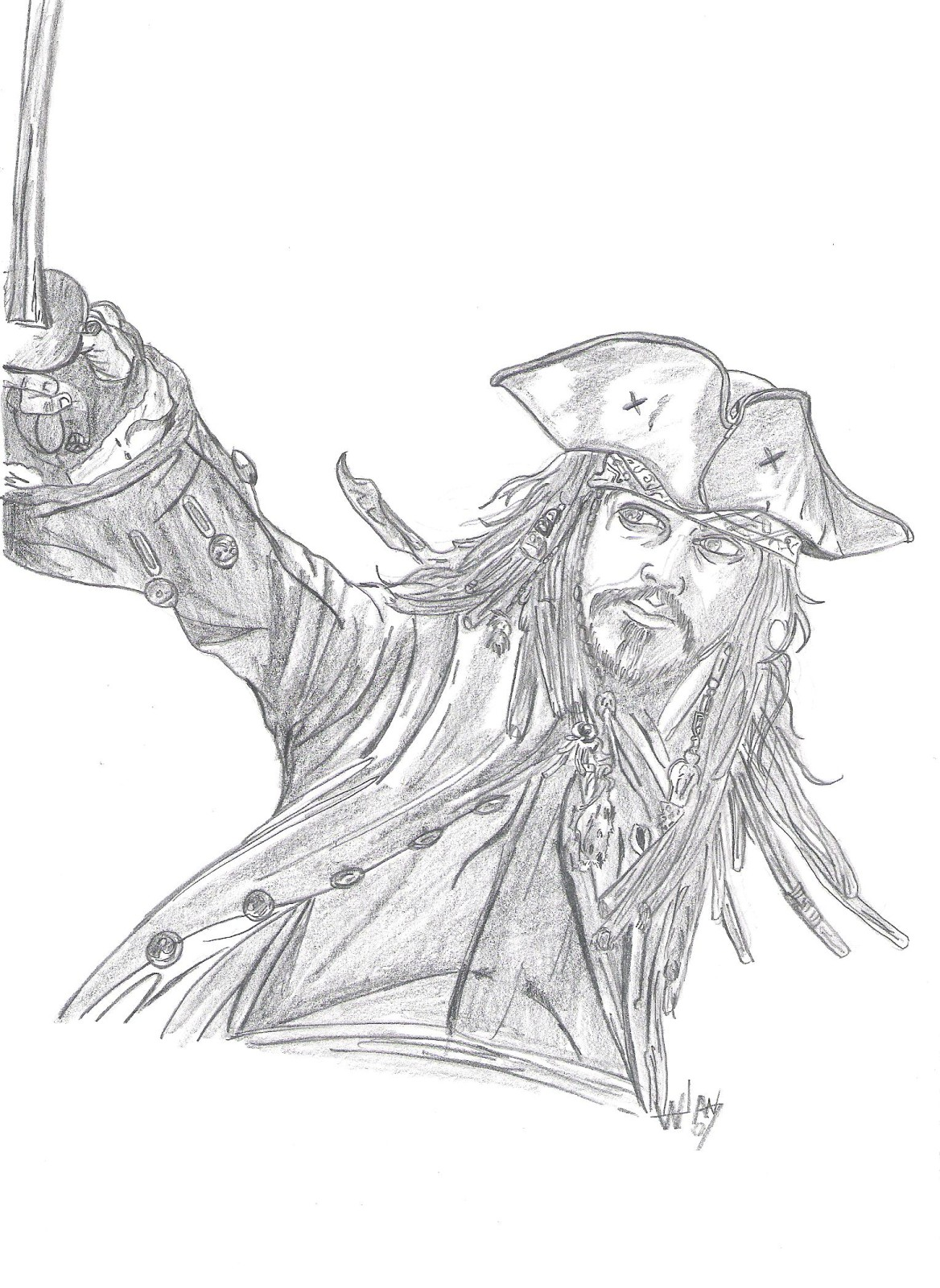 coloriage à dessiner jack et les pirates du pays imaginaire