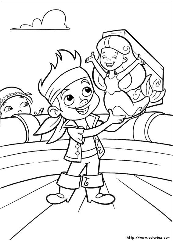 coloriage jack et les pirates imaginaires