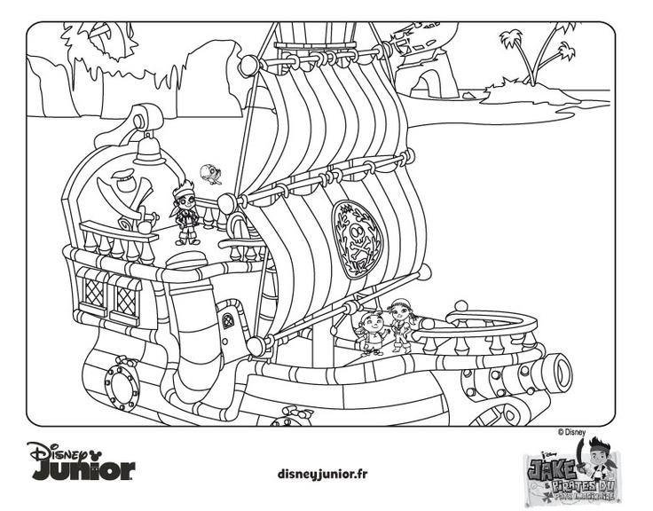 Coloriage jake et les pirates du pays imaginaire - Dessin jack le pirate ...