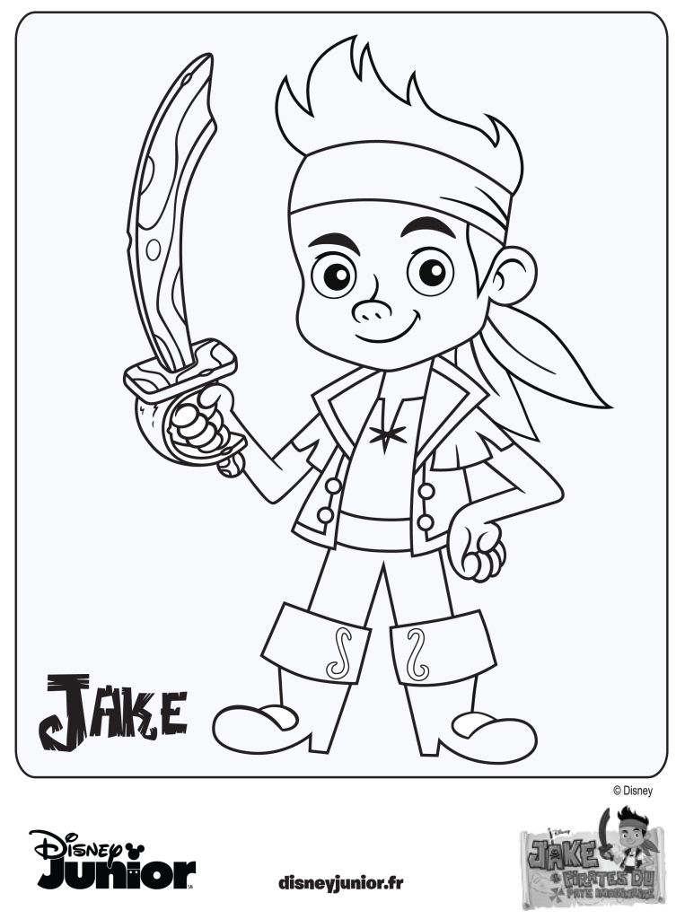 Coloriage jake et les pirates du pays imaginaire - Coloriage jack le pirate ...