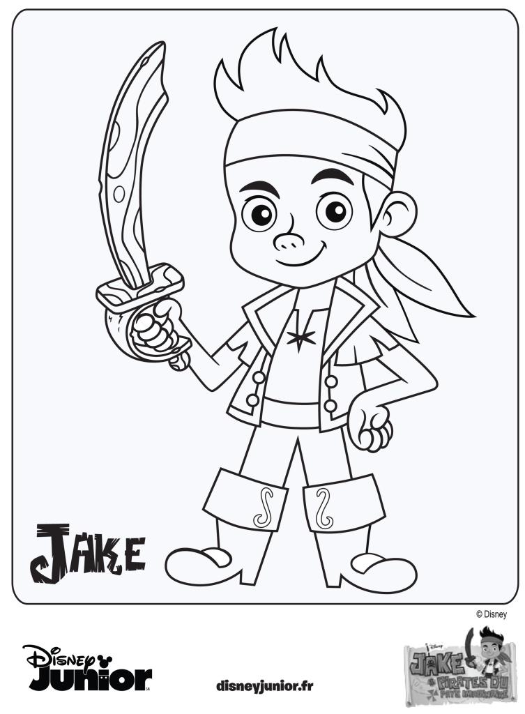 dessin à colorier jack et les pirates du pays imaginaire