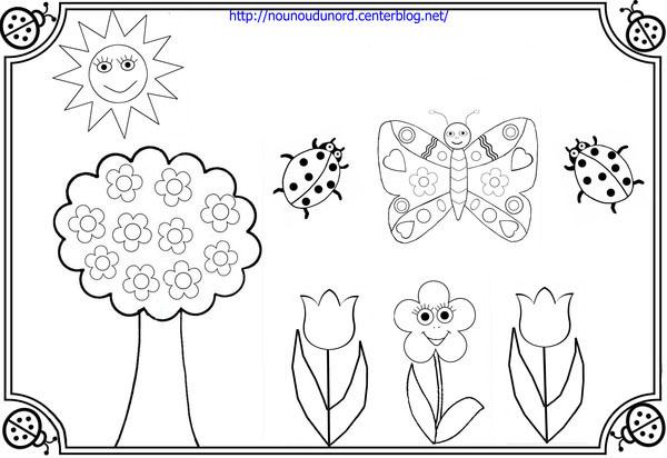dessin à colorier d'un jardin imprimer