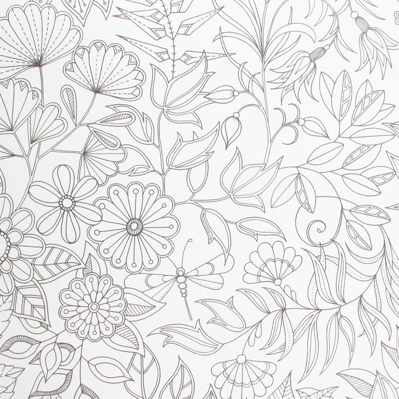 dessin à colorier maison et jardin