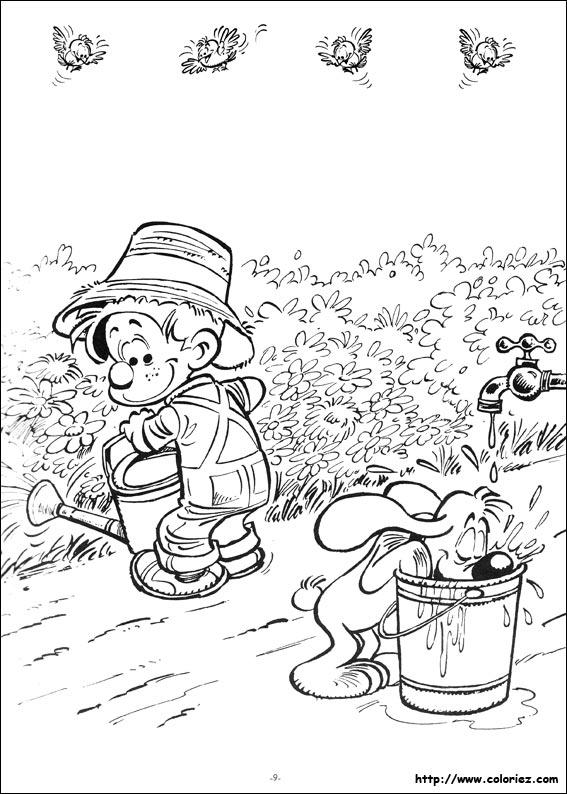 Dessin colorier jardinier jardin - Dessin de potager ...