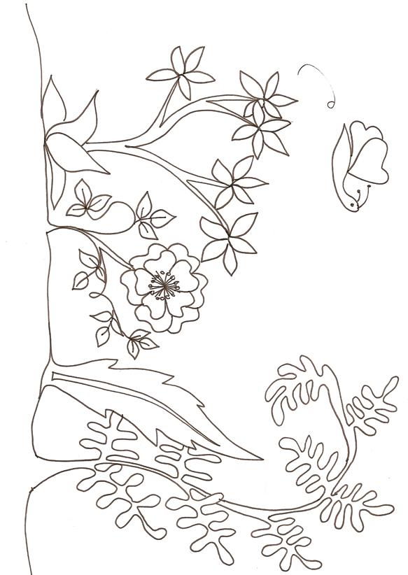 Dessin jardin imprimer for Image de jardin a imprimer