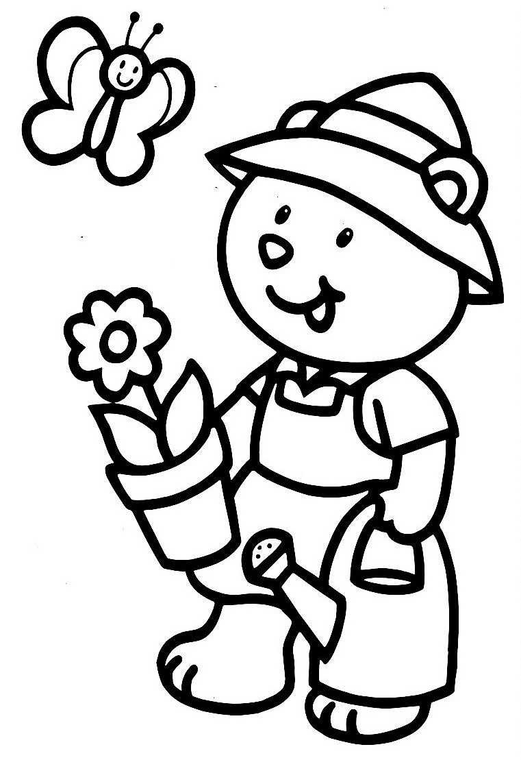dessin jardinier rigolo