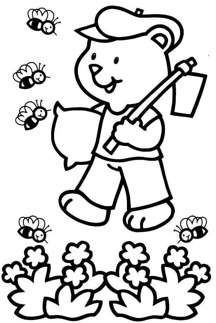 dessin jardinier maternelle