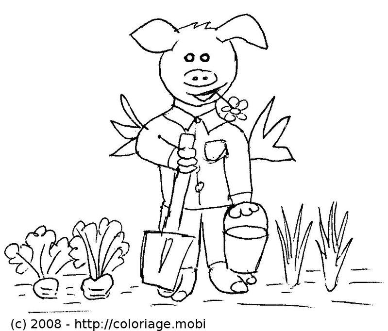 dessin jardinier gratuit