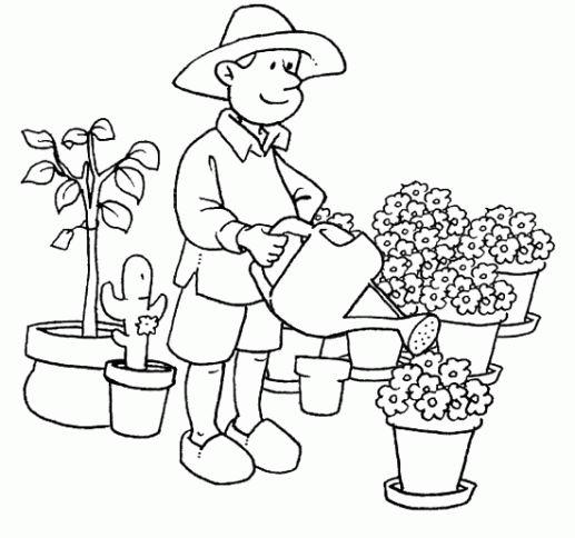 coloriage le jardinier qui voulait etre roi