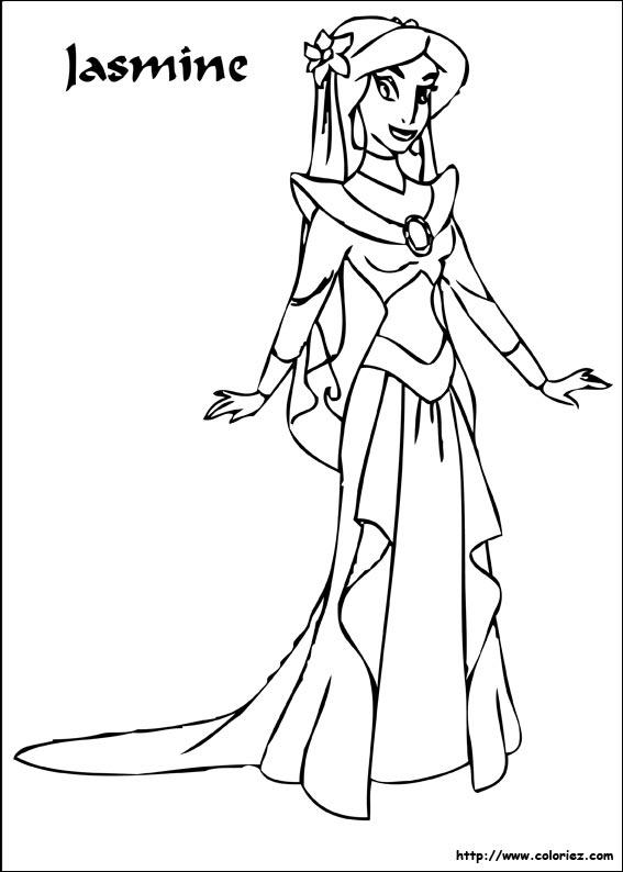 jeux coloriage � dessiner jasmine