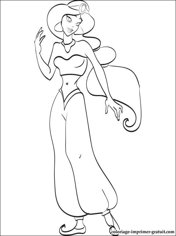 jeux coloriage à dessiner jasmine gratuit