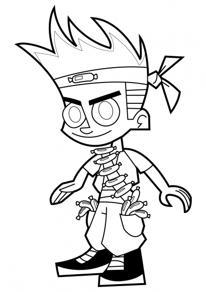 dessin johnny test