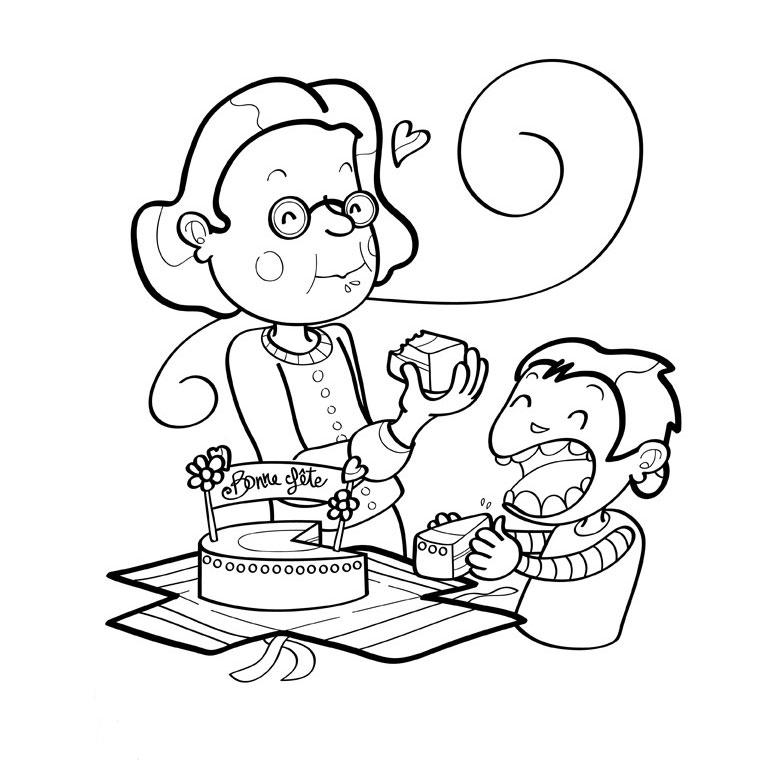 coloriage à dessiner bon anniversaire 7 ans