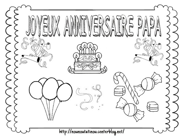 Coloriage joyeux anniversaire mamie - Dessin a imprimer anniversaire ...