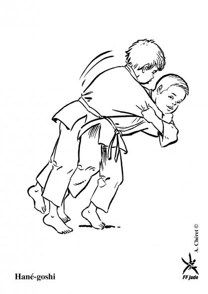 coloriage à dessiner judo en ligne