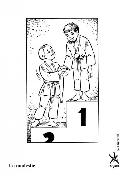 jeux de dessin à colorier de judo