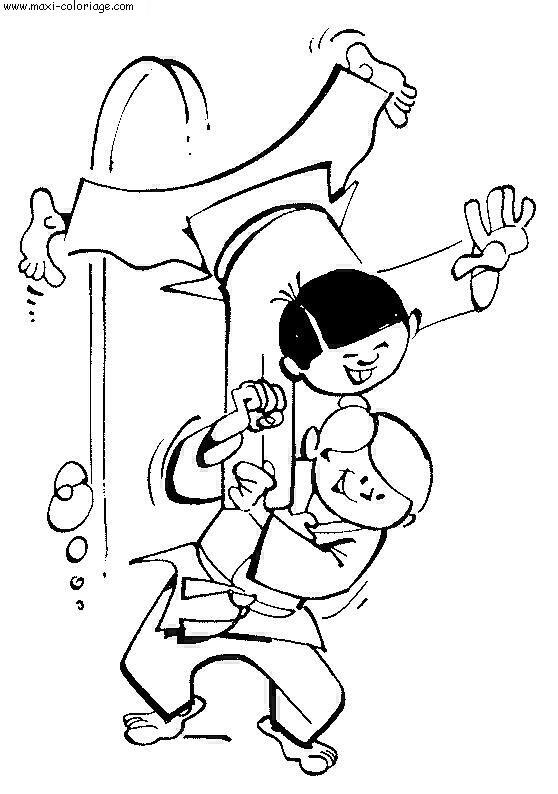 coloriage judo gratuit