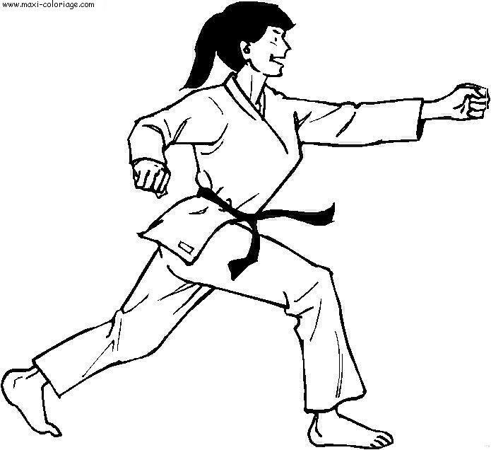 coloriage à dessiner gratuit judoka
