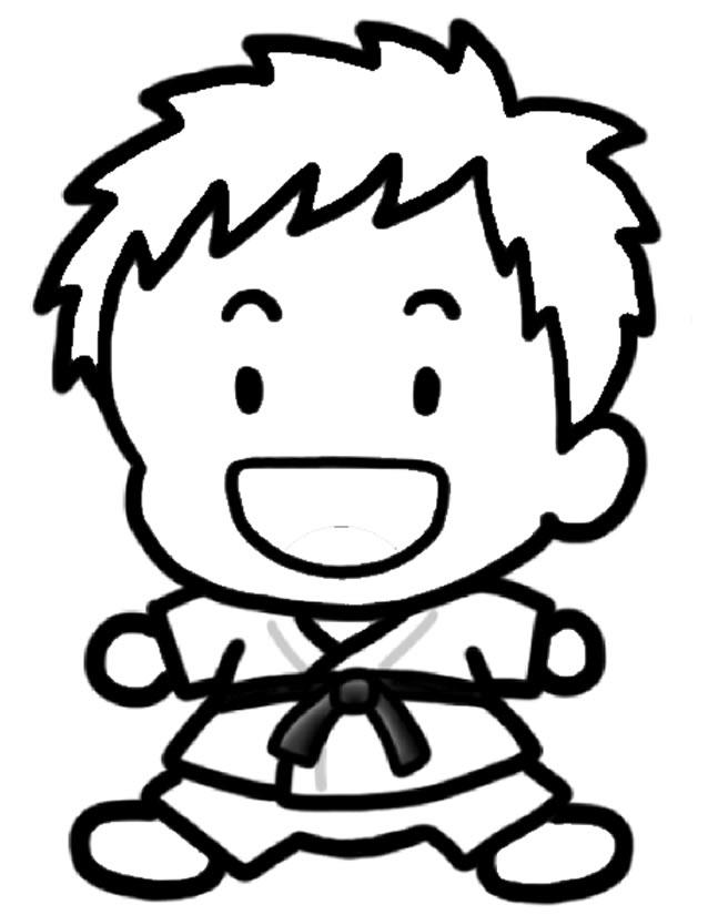 dessin à colorier judo fille