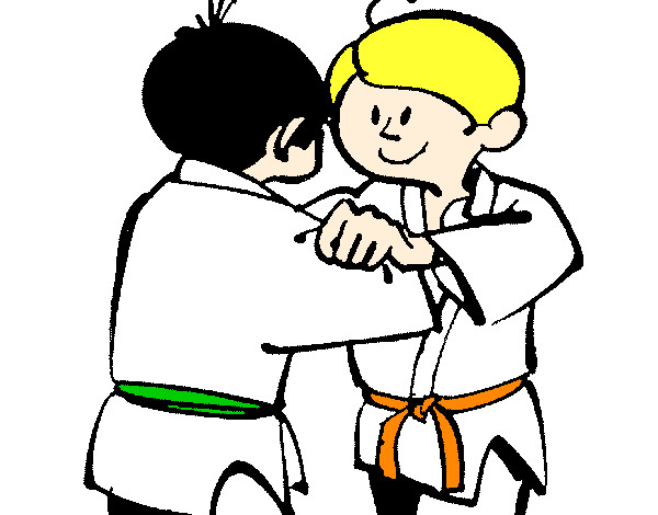 dessin à colorier kimono judo