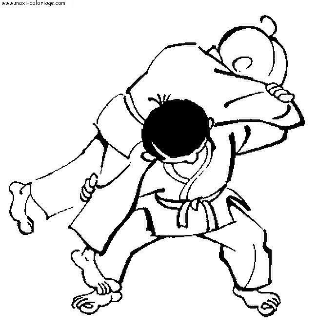 coloriage à dessiner judo